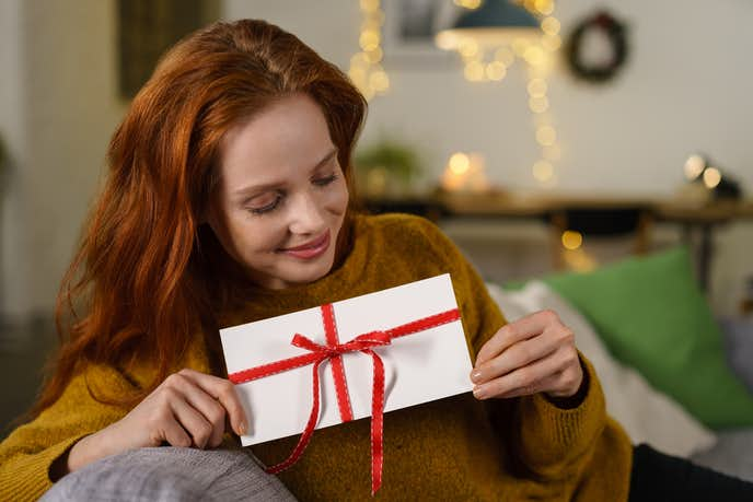 クリスマスプレゼントにギフト券の贈り物