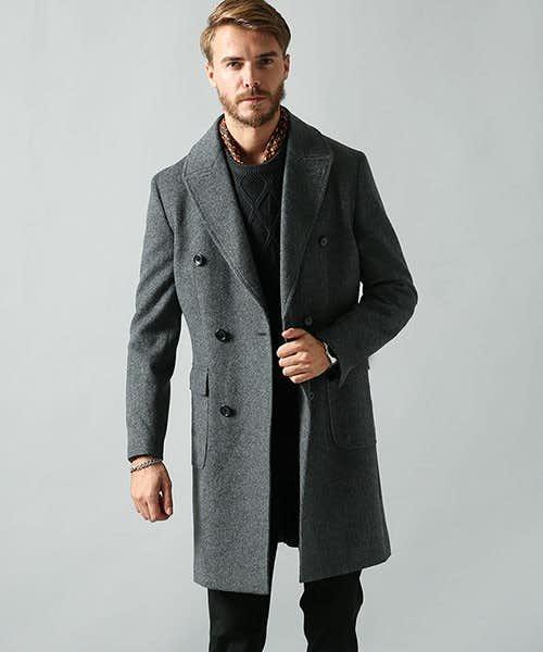 カシミアの入ったコート