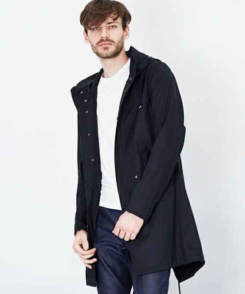 wjkblackの黒モッズコート