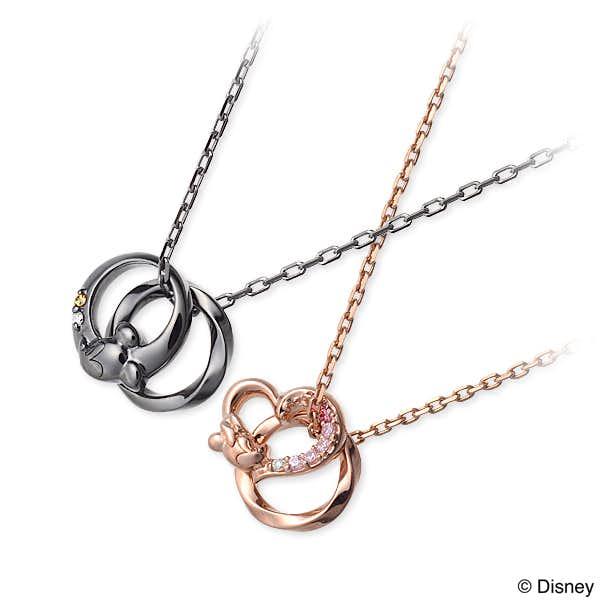 ディズニーアクセサリーのプレゼントにザ_キッスのミッキー_ミニーのペアネックレス.jpg