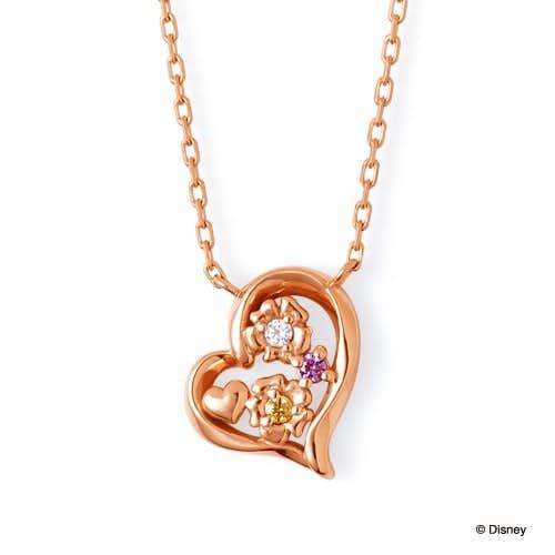 ディズニーのプレゼントにザ_キッスのラプンツェルピンクゴールドネックレス.jpg