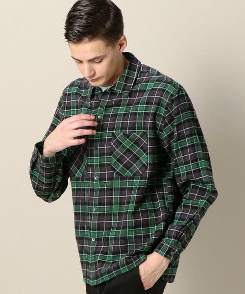 ユナイテッドアローズの緑チェックシャツ