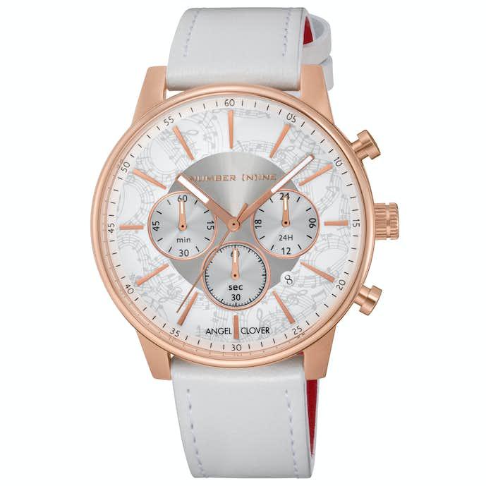 白の気品がある腕時計