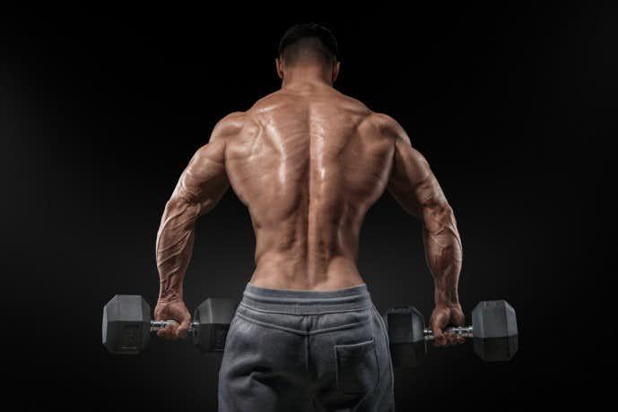 ダンベルを使った背筋の鍛え方「ダンベルデッドリフト」