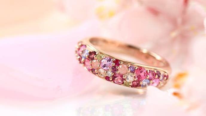クリスマスプレゼントはビズーの桜ブーケの指輪