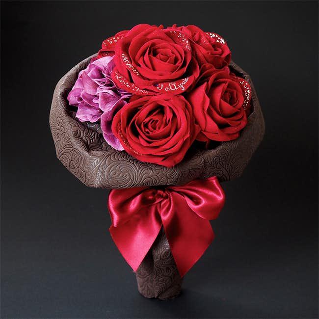 遠距離の彼女に贈るクリスマスプレゼントにメリアルームのバラの花束.jpg