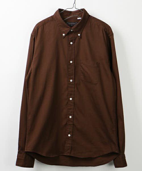 ブラウンのロングスリーブシャツ