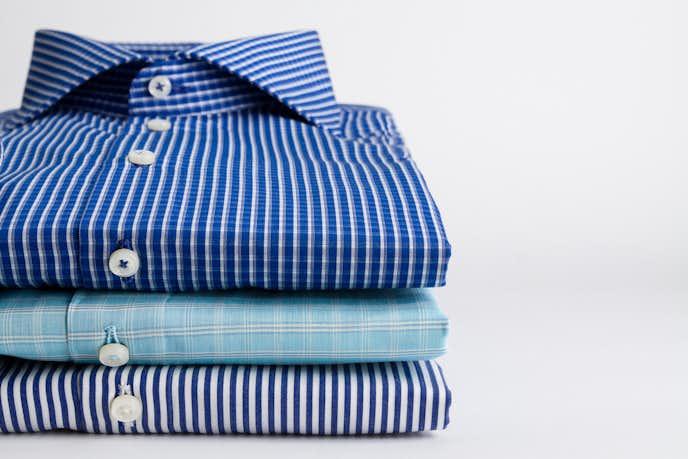 3枚のストライプシャツ