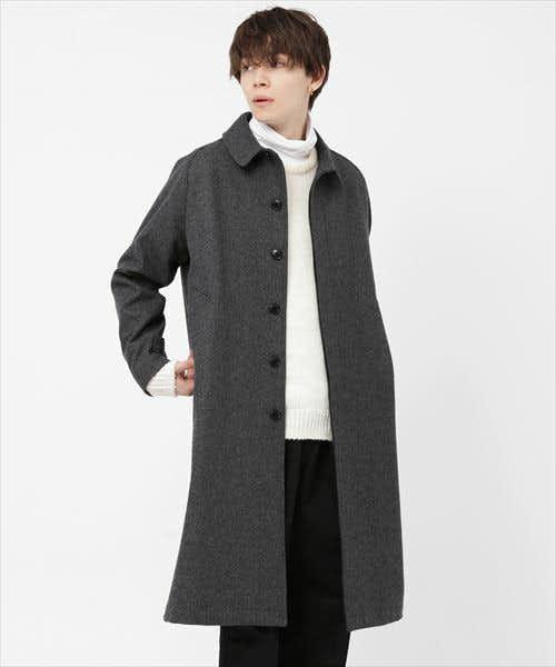 軽量で着やすいステンカラーコート