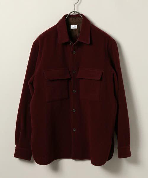 ウール素材のシャツ