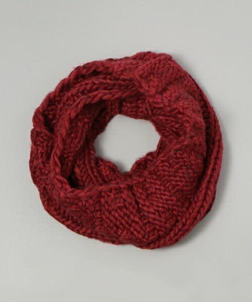 手編み風の作りのスヌード