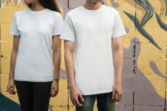 ユニクロのペアルックTシャツ
