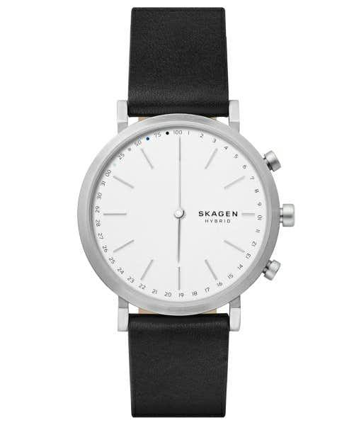 スカーゲンの白の腕時計