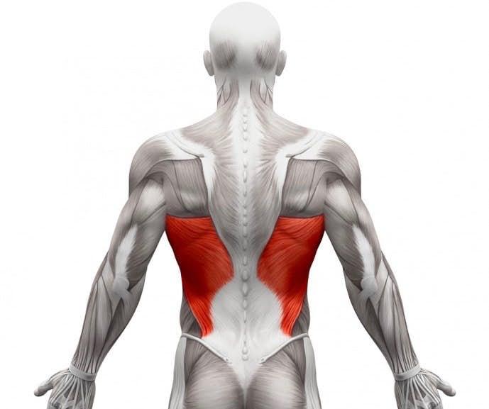 仰向けで寝る際の背部、腰部の痛み