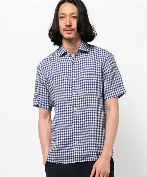 ギンガムショートスリーブシャツ