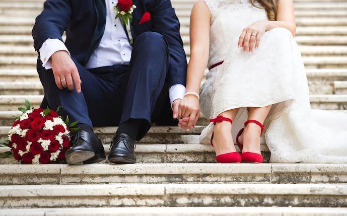 結婚祝いの花束