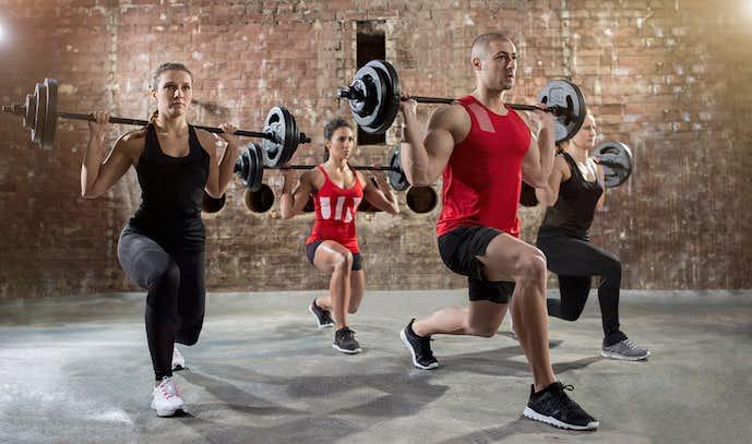 中臀筋を鍛えられるレッグランジトレーニング