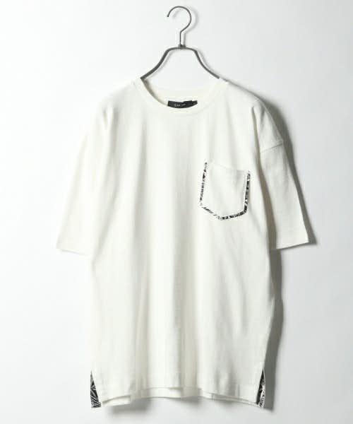 柄の切り替えデザインTシャツ