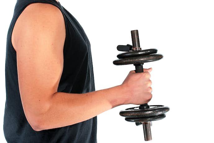 橈側手根屈筋を鍛えられるスピネーション