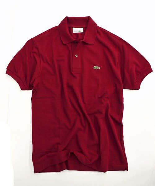 LACOSTEのボルドーのポロシャツ