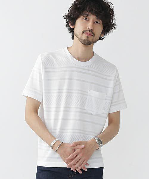 無地っぽい総柄Tシャツ