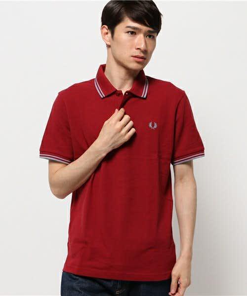 フレッドペリーの赤ポロシャツ