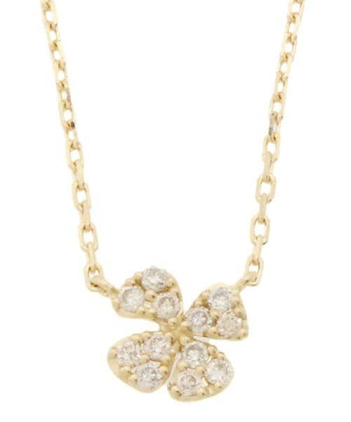 ageteのクローバーのダイヤモンドネックレス.jpg