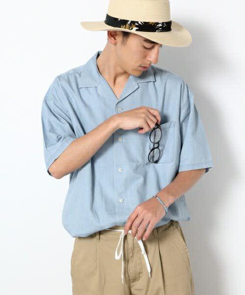 レイジブルーのブルーシャツ