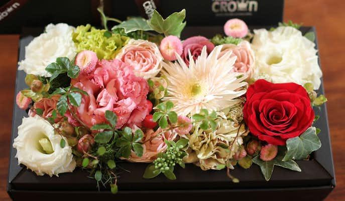 結婚祝いの花ギフトはフラワーボックス