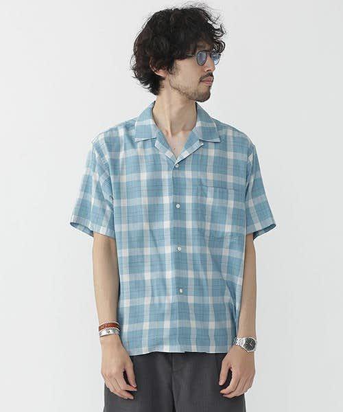 ナノユニバースのチェックシャツ