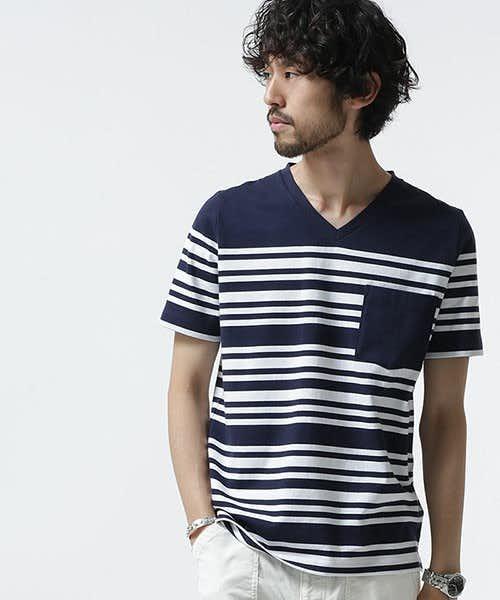 ナノユニバースの人気ボーダーTシャツ