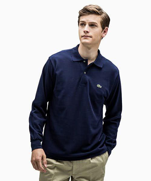 LACOSTEの長袖ポロシャツ
