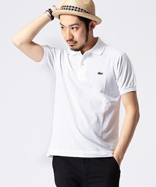 ラコステの白ポロシャツ