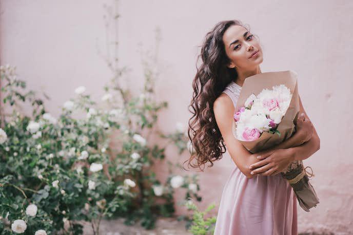 女性への送別会のプレゼントにお花