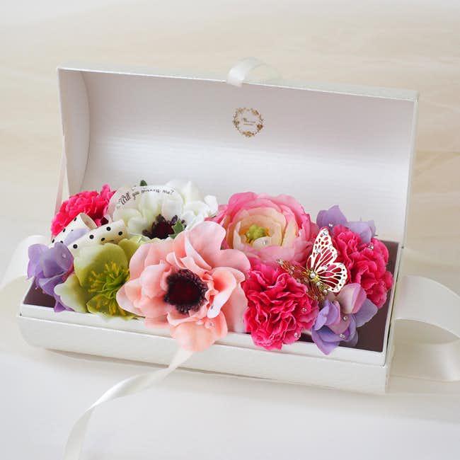 女性上司への誕生日プレゼントにメッセージフラワーバッグエタニティ.jpg