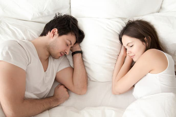 お家デートでシンプルに昼寝