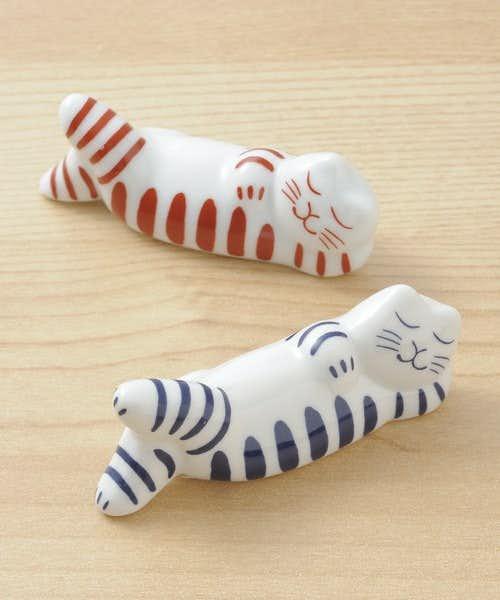 結婚祝いの箸プレゼントは猫の箸置き