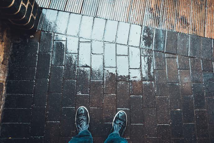 靴が濡れたときの対処法