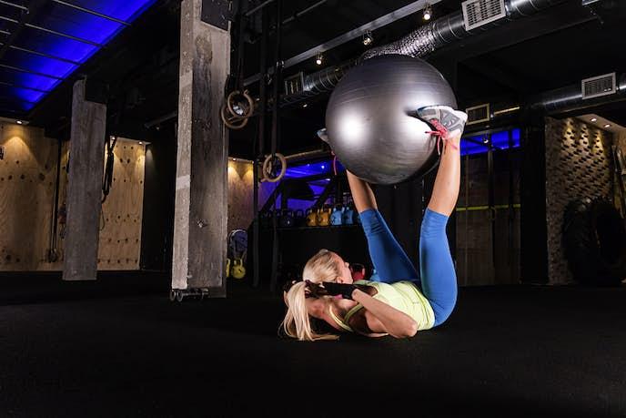 バランスボールを使ったトレーニング