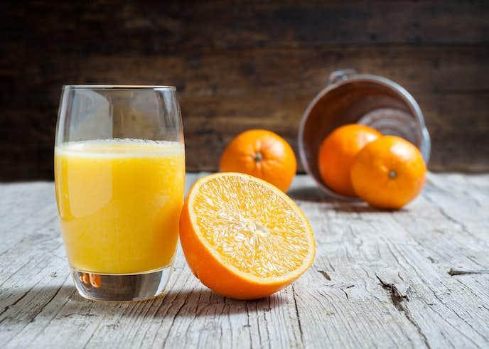 プロテインのオレンジジュース割り