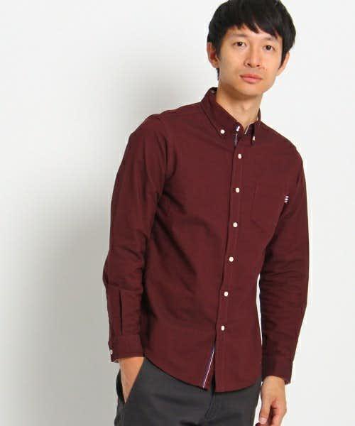 オックス地のシャツ