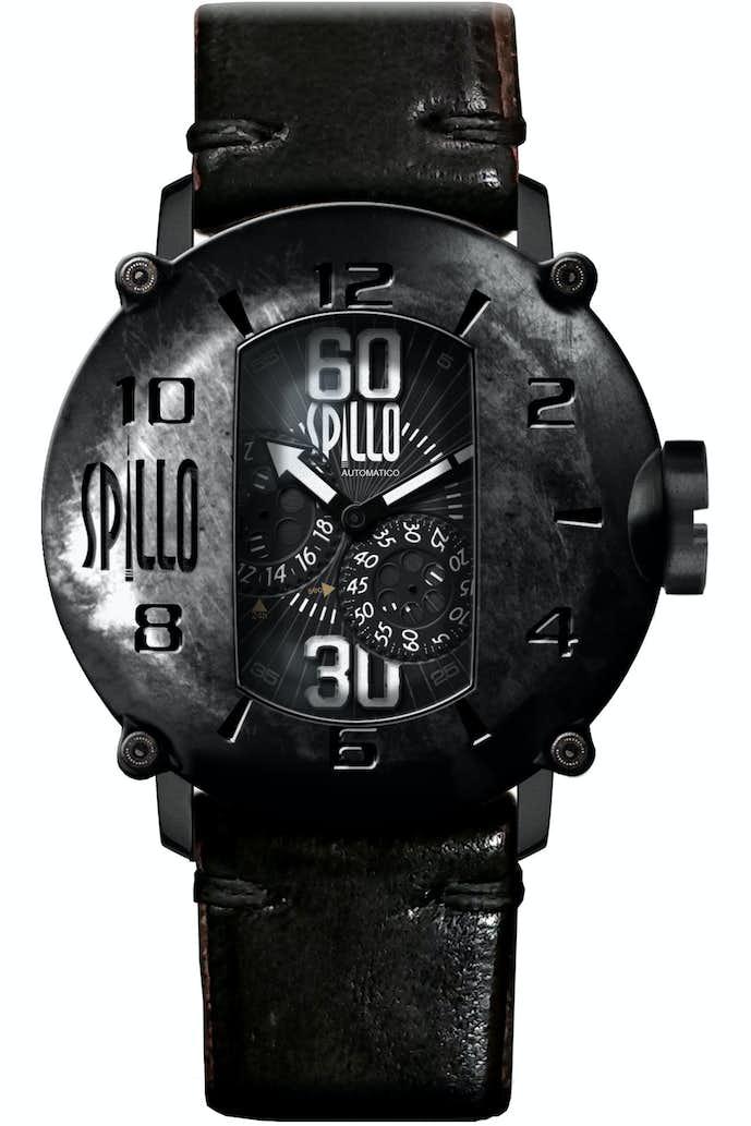 ホースレザーで作られた腕時計