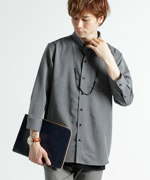 七分丈のシャツ
