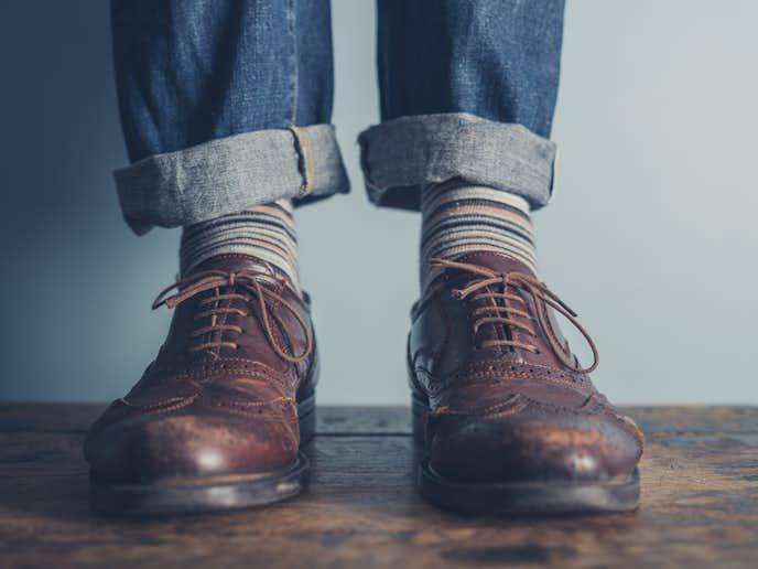 靴下にこだわる男