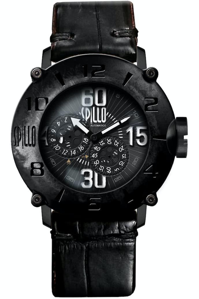 ワニ革の高級感ある時計