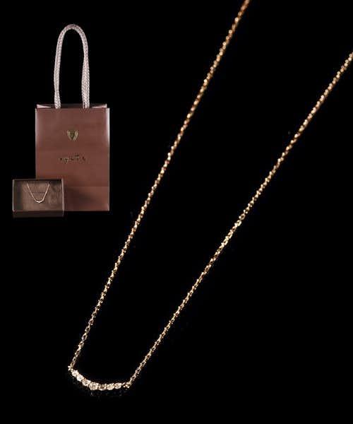 クリスマスプレゼントにおすすめのネックレスはアガットのK10ピンクゴールドネックレス