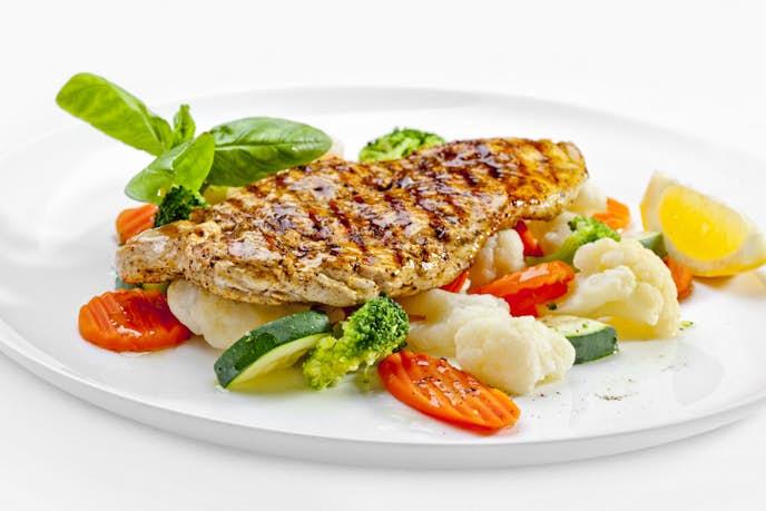 低カロリー高タンパク質な食事