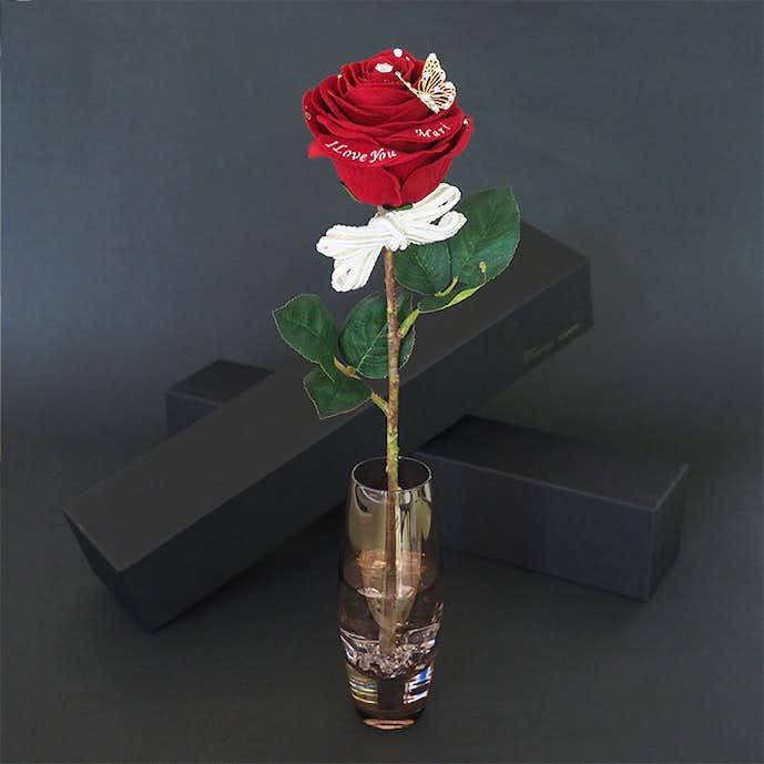 クリスマスプレゼントにおすすめの花束は一輪のバラ