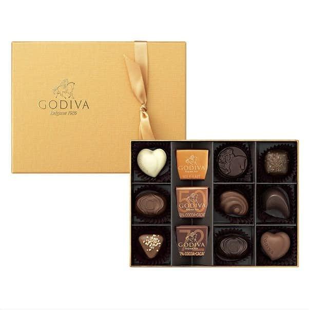 誕生日プレゼントにおすすめのスイーツはゴディバのゴールドセレクションのチョコ