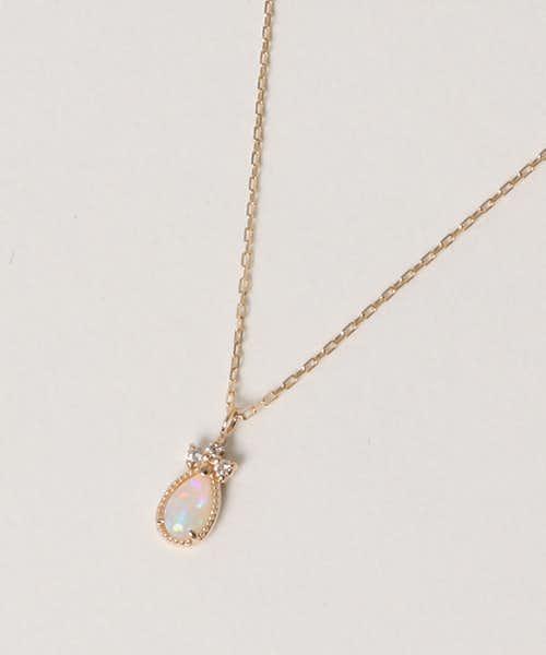 クリスマスプレゼントにおすすめはアガットのダイヤモンドとオパールのネックレス